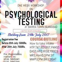 One Week Workshop on Psychological Testing