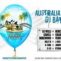 Australia Day Eve DJ Battle