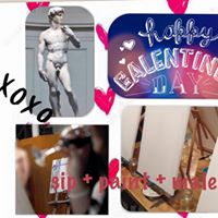 GALentines Day at the Studio Sip  Paint a Male Model