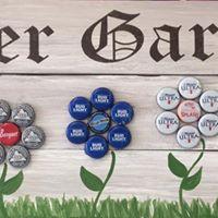 Beer garden board art