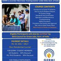 National Certification Program for Rooftop Solar PV Installer