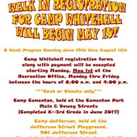 Camp Whitehall Registration Opens