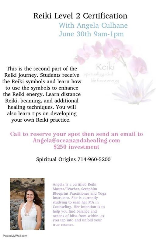 Reiki Level 2 Certification At Spiritual Origins Psychic Readings