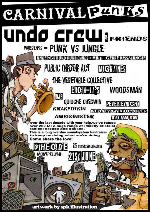 Punk VS Jungle Sound Systems Fundraiser