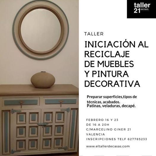 Taller reciclaje de muebles y pintura decorativa.