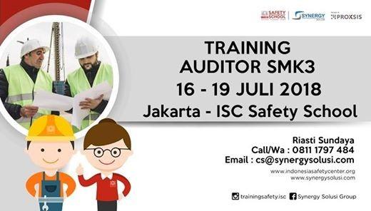 Training Auditor SMK3 tanggal 16-19 Juli 2018