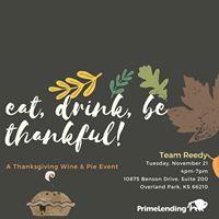 Thanksgiving Wine &amp Pie Event