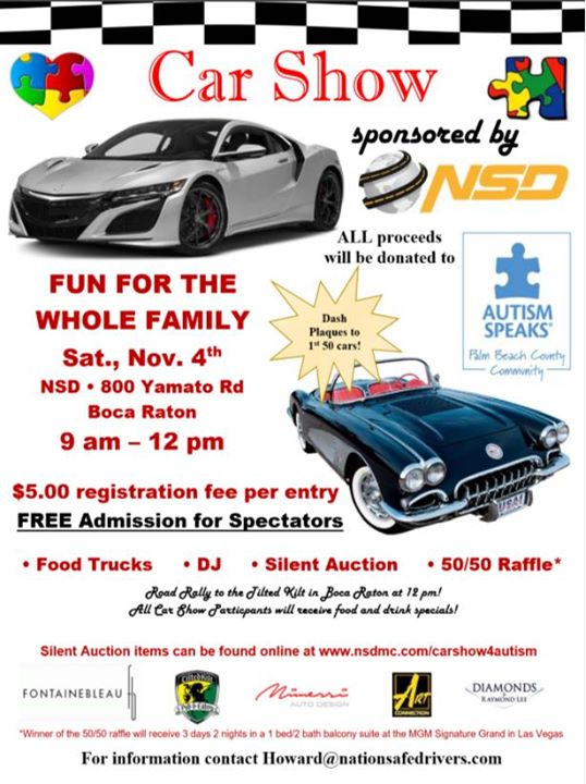 Car Show For Autism Speaks At Yamato Rd Boca Raton FL - Boca raton car show