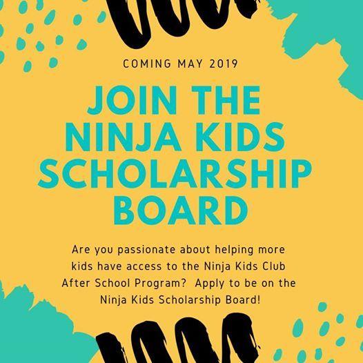 Ninja Kids Club Scholarship Board Nominations