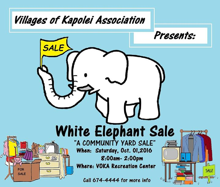 White Elephant Sale Swap Meet At Villages Of Kapolei