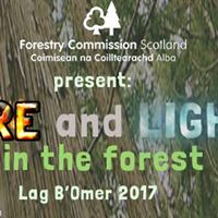 Fire and Light in the forest - Lag BOmer 2017 in Callendar Wood