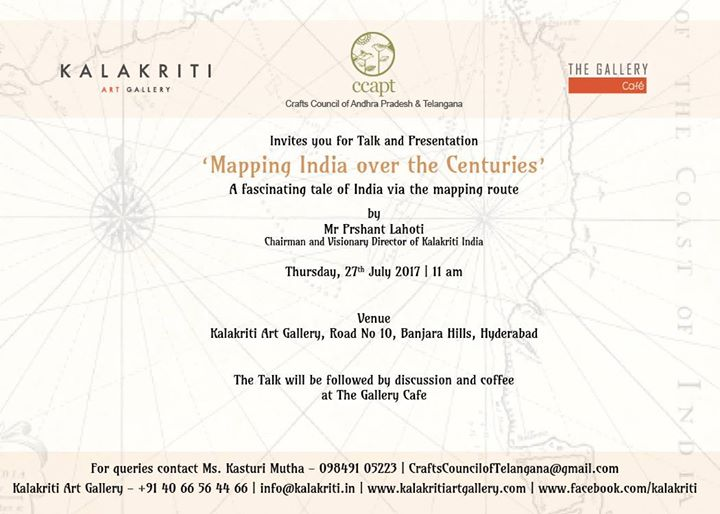 mapping india over the centuries talk presentation at kalakriti