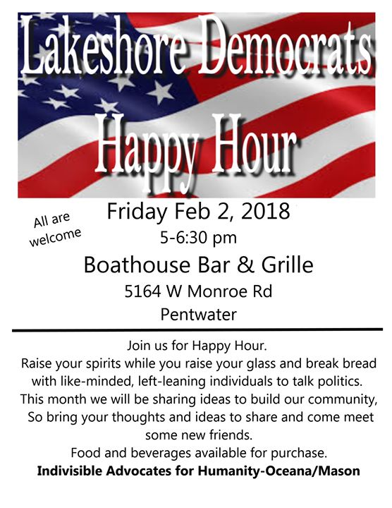 Lakeshore Democrats Happy Hour At The Boathouse Bar Grille Pentwater