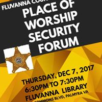 Place of Worship Security Forum