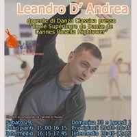 Stage di Danza Classica con Leandro DAndrea