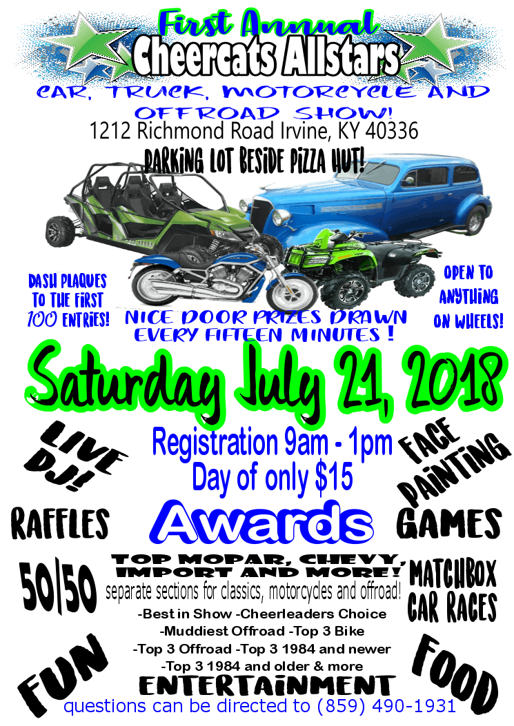 1st Annual Cheercats Car Motorcycle &amp Offroad Show