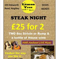 Steak Night with Live Ambient Music from Izak WIlkinson
