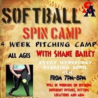 4 week softball spin camp