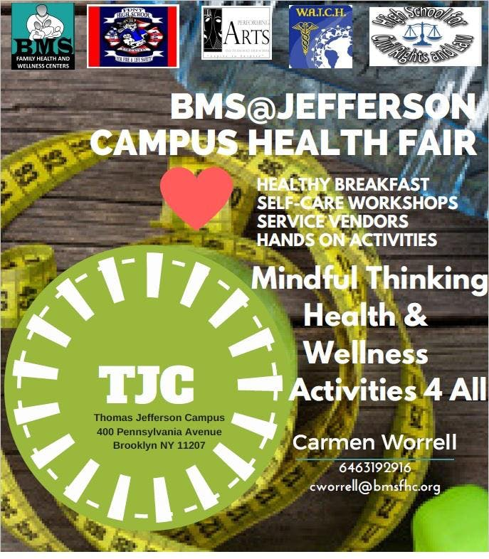 BMS@Jefferson School Based Health Center Health Fair Extravaganza at