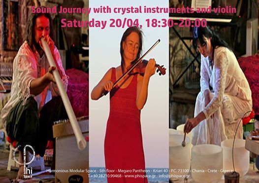 Sound journey with crystal instruments and violin