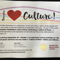 Culture Days hosted by the Brampton Meditation Centre