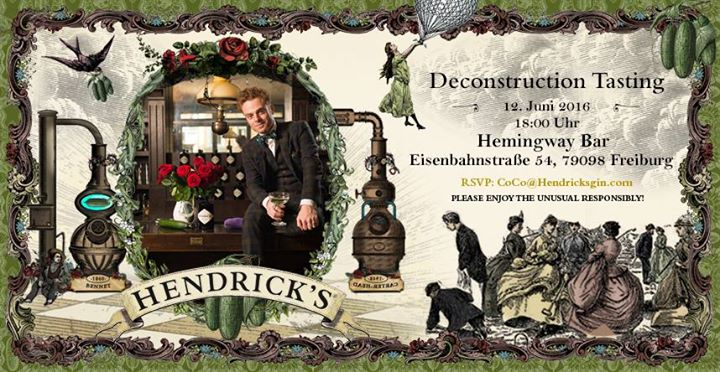 deconstruction tasting of hendricks gin at hemingway bar. Black Bedroom Furniture Sets. Home Design Ideas