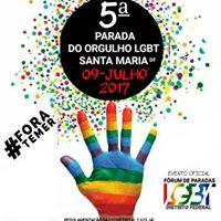 5 PARADA DO ORGULHO LGBT DE SANTA MARIA DF