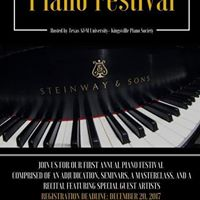 Texas A&ampM University-Kingsville First Annual Piano Festival