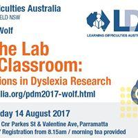Dr Maryanne Wolf Lab to Classroom Dyslexia Workshop