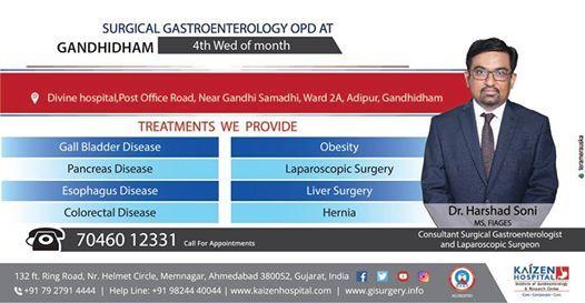 Surgical Gastroenterology OPD at Gandhidham