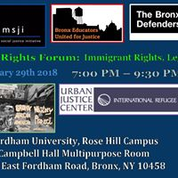 KNOW YOUR RIGHTS FORUM ON LEGAL RIGHTS OF IMMIGRANTS