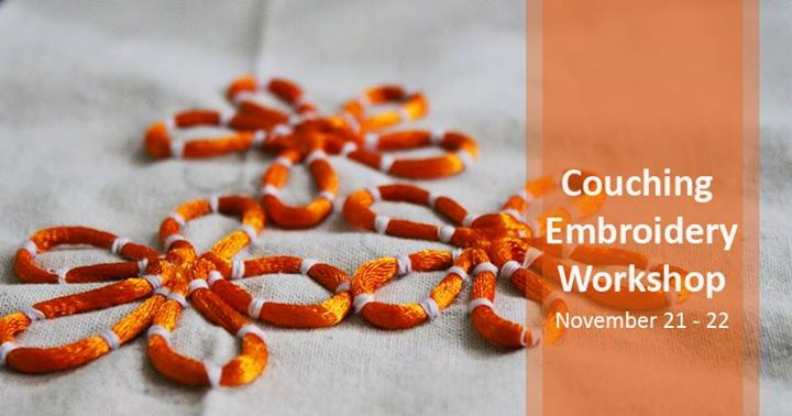 Couching Embroidery Workshop At Ph Designs Ahmedabad