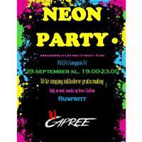 Neon Party med DJ Capree