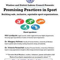 Promising Practices in Sport