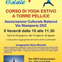 Yoga Estivo con Silvia Morello a Torre Pellice