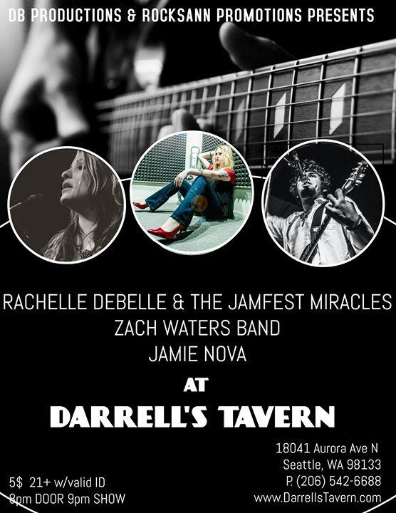 Rachelle DeBelle & TJFM w/ Zach Waters Band & Jamie Nova w/ Lauren