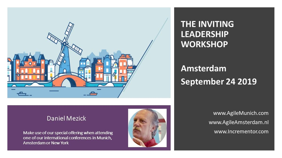 Inviting Leadership Level 1 Certification  Sept 24 in Amsterdam by Daniel Mezick