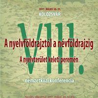 A nyelvfldrajztl a nvfldrajzig VIII.