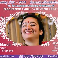 Special meditation retreat at arya auditorium new delhi for Arya fine indian cuisine
