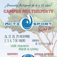 Campus Multideporte Actisport - Navidad 2017