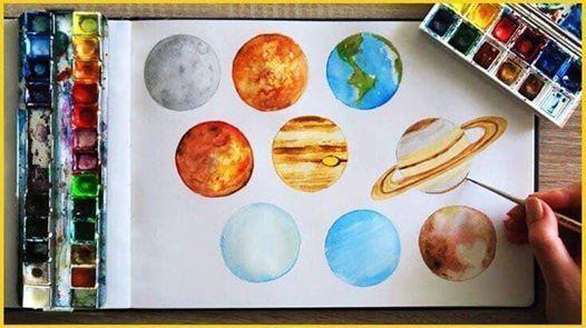 Atelier de pictura Painting the Planets