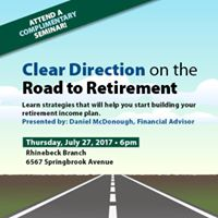 Complimentary Seminar Clear Direction on the Road to Retirement