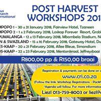 CRI Post Harvest Workshops
