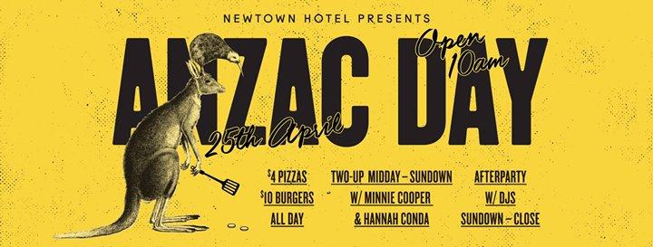 Newtown Hotel Presents ANZAC Day 2018