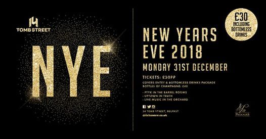 New Years Eve Party  14 Belfast  30 Entry&Bottomless Package