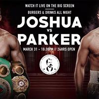 Live on the big screen  Joshua vs. Parker