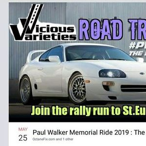 Vicious Varieties Road Trip To Paul Walker Memorial Run