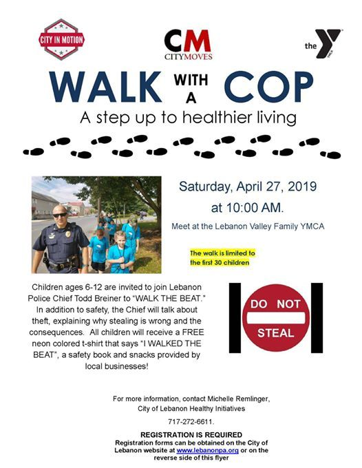 Walk with a Cop at City of Lebanon, PA Government, Lebanon