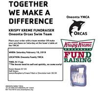 Krispy Kreme FUNdraiser for the Oneonta Orcas Swim Team