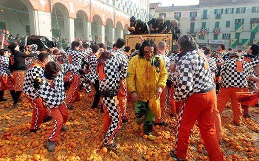 Ivrea Karnaval Ivrea talya
